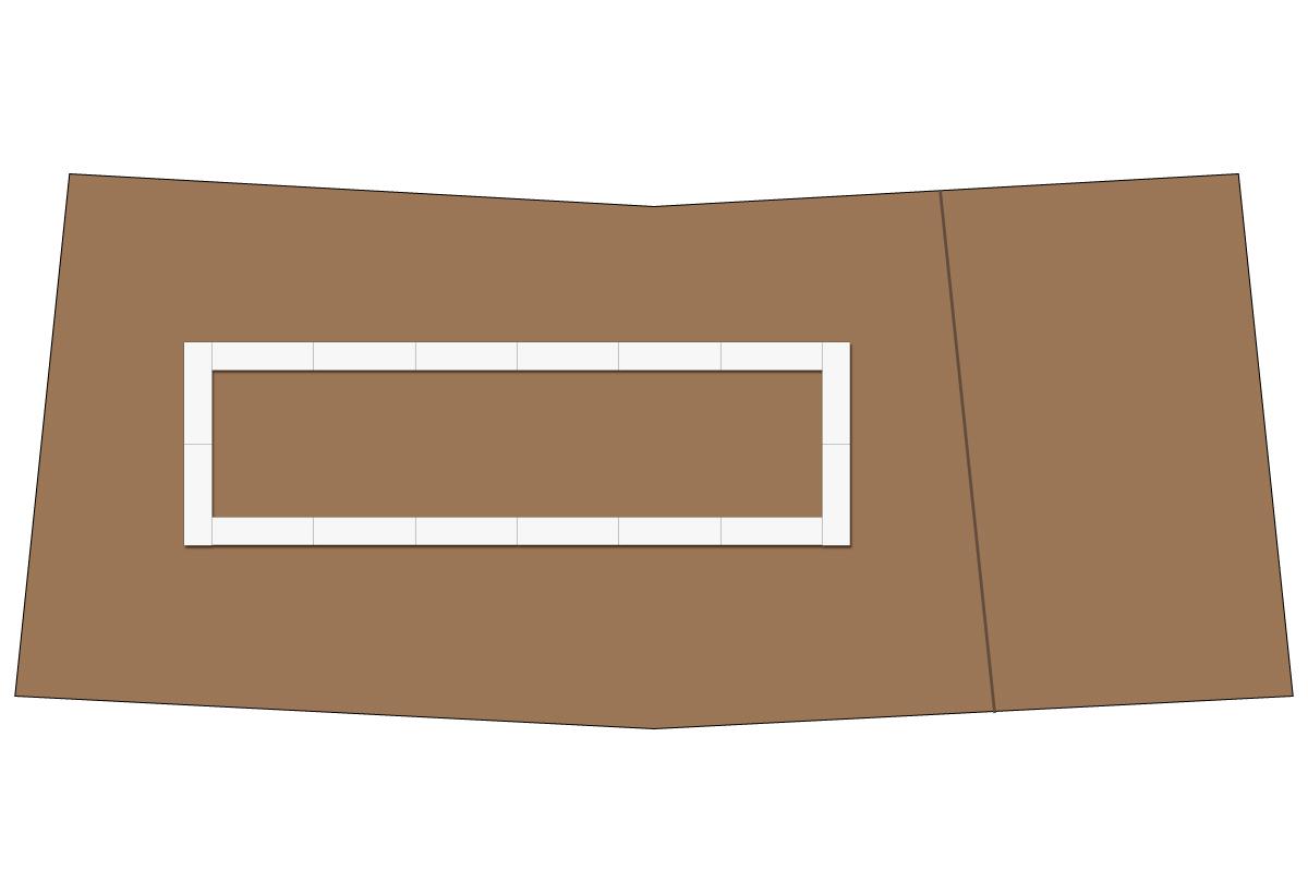 テーブルレイアウト例(口の字・テーブル×16)