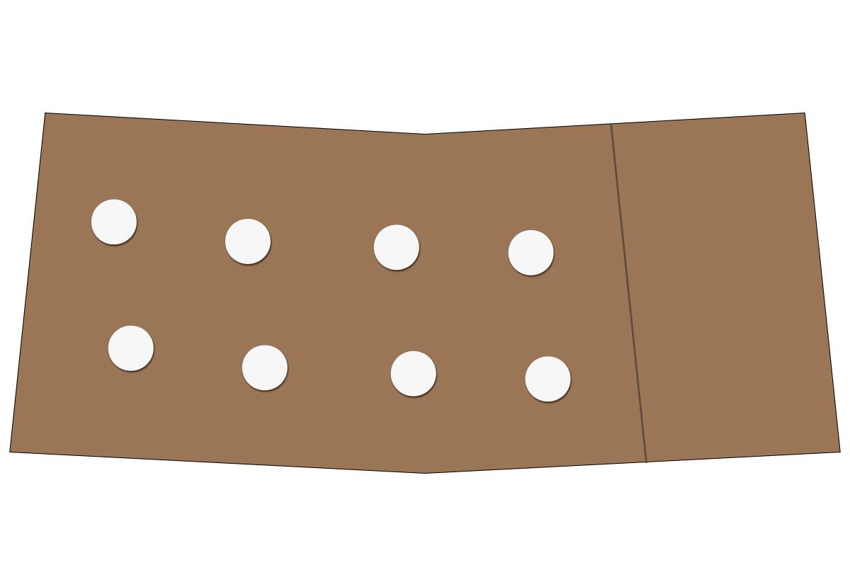 テーブルレイアウト例(円卓・テーブル×8)