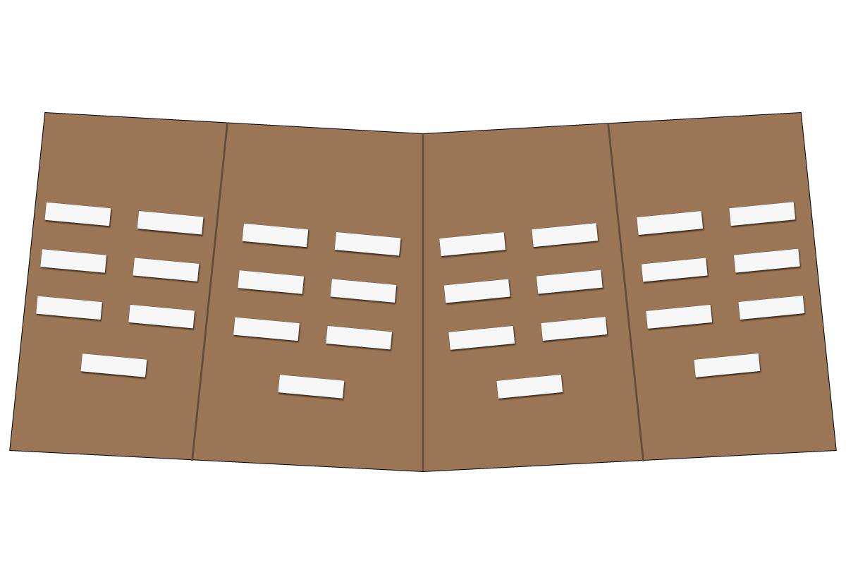 テーブルレイアウト例(学式2列×3列)