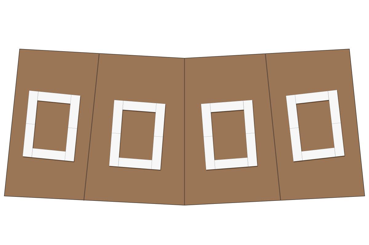 テーブルレイアウト例(口の字・テーブル×6)