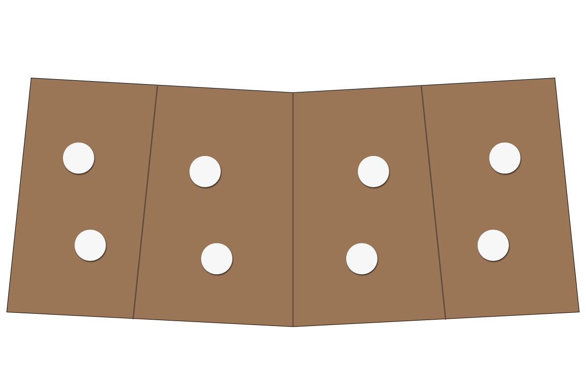 テーブルレイアウト例(円卓・テーブル×2)