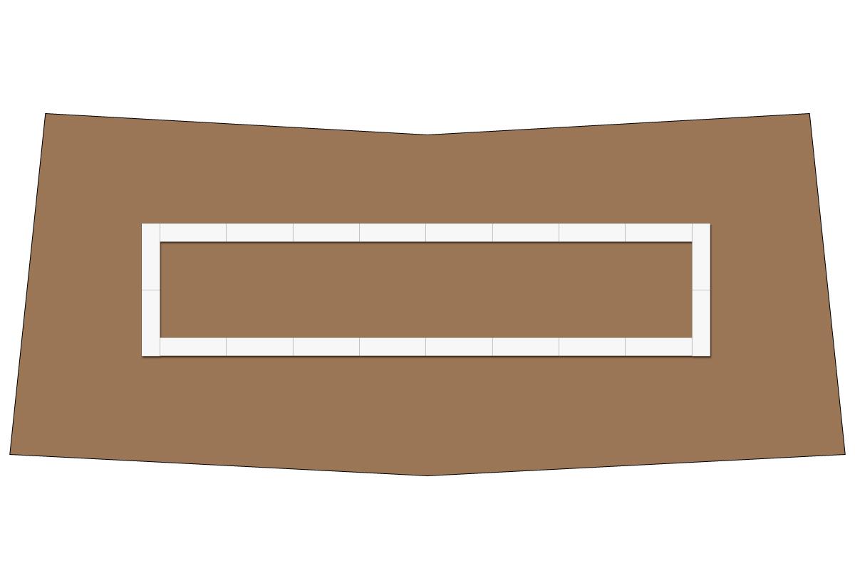 テーブルレイアウト例(口の字×24)
