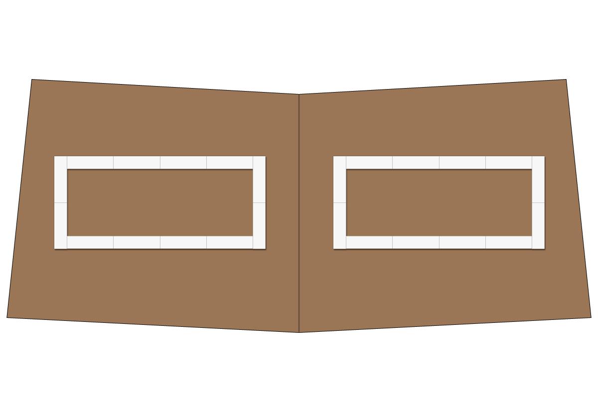 テーブルレイアウト例(口の字・テーブル×12)