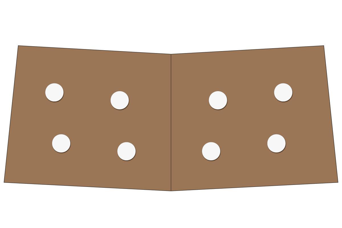 テーブルレイアウト例(円卓・テーブル×4)