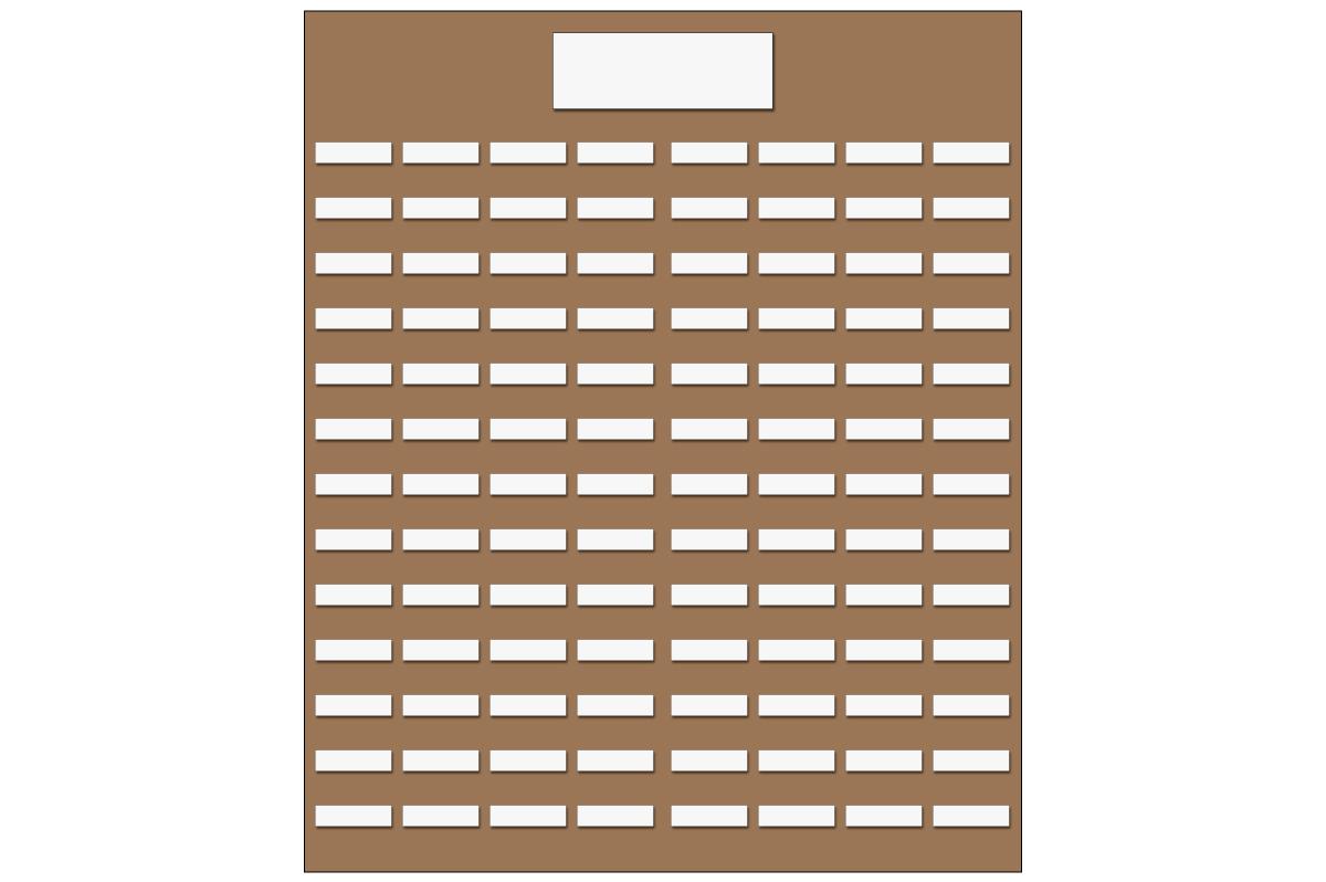 テーブルレイアウト例(学式8列×13列)