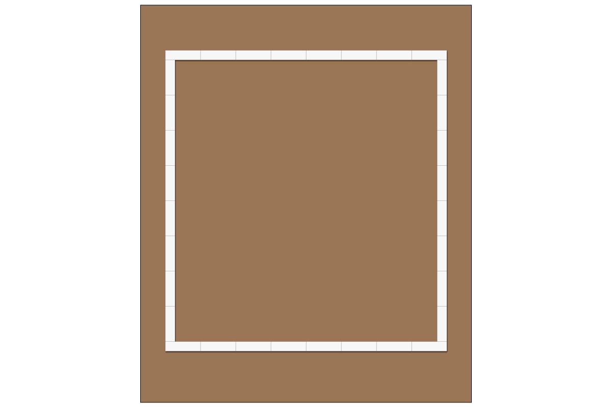 テーブルレイアウト例(ロの字・テーブル×32)