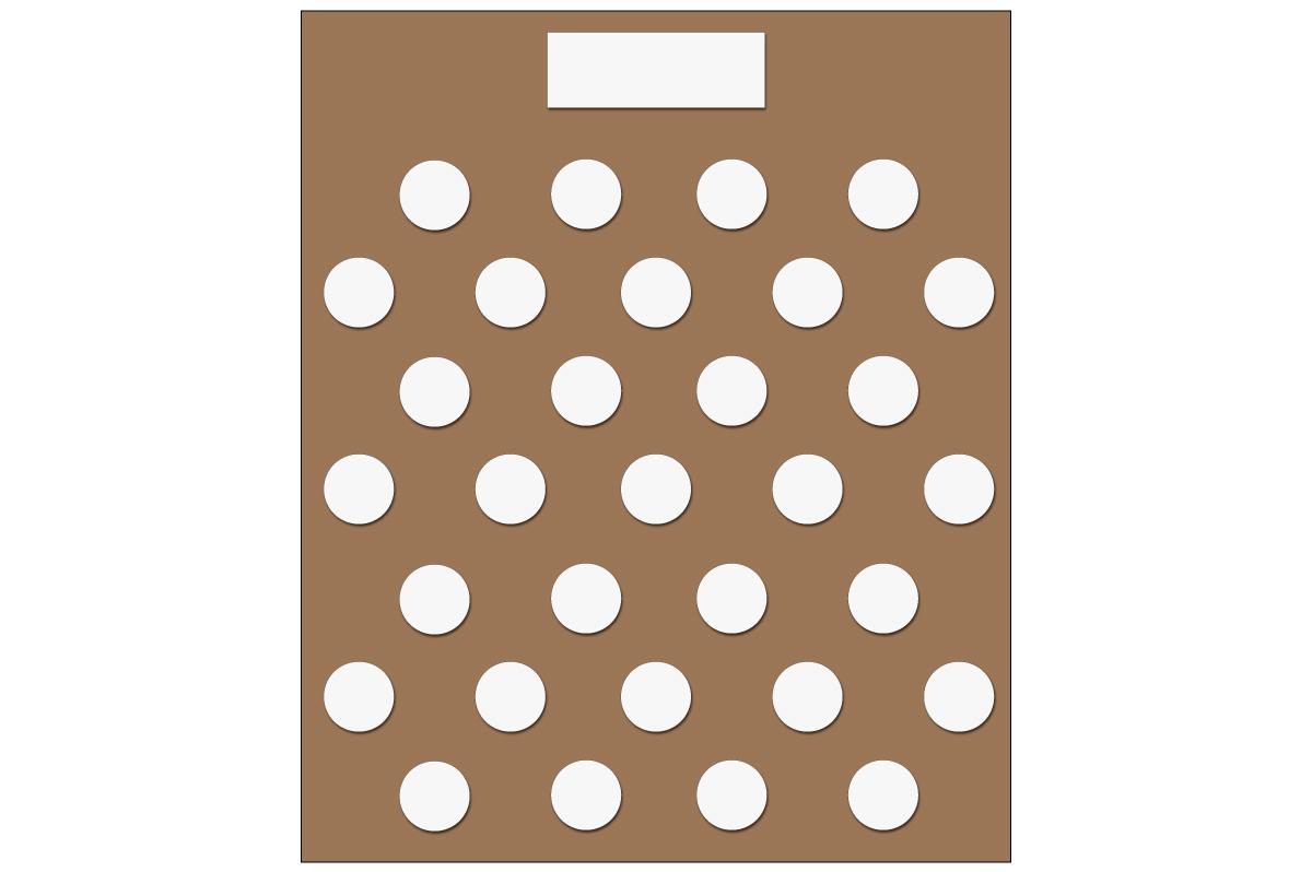 テーブルレイアウト例(円卓・テーブル×31)