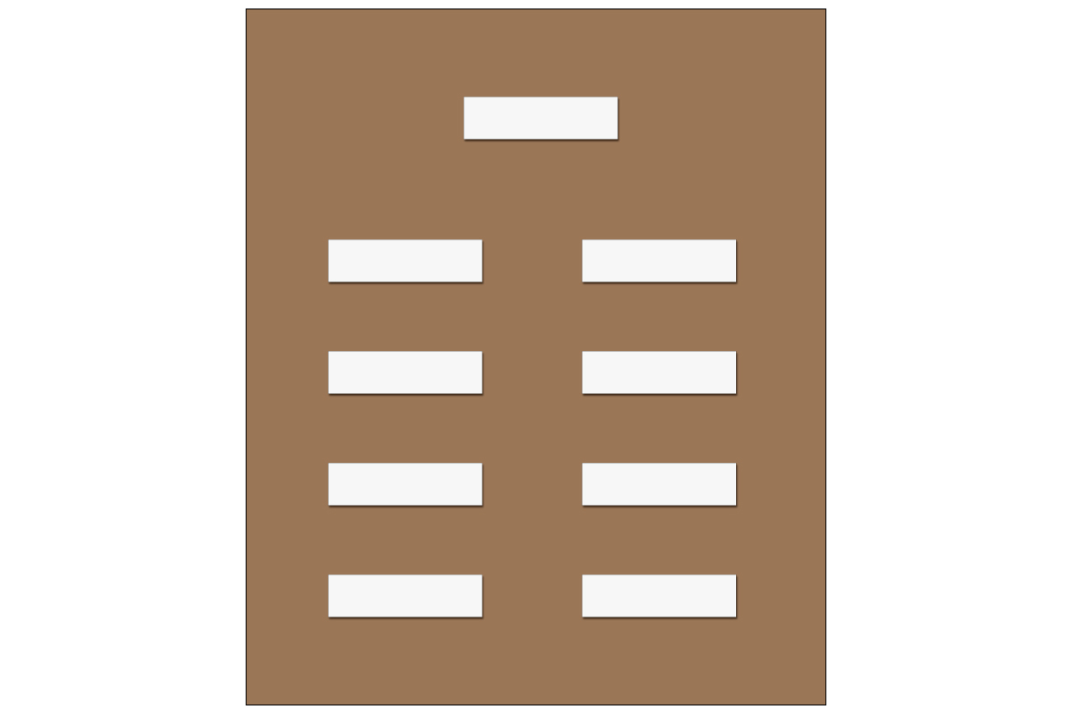 テーブルレイアウト例(学式)